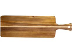 web Acacia Large Inlay Bread Board with Handle