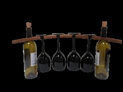 Wine glass holder with black glasses  e